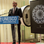 Arūnas Gelūnas, Ambassador, Permanent Delegate of the Republic of Lithuania to UNESCO opens the exhibition.