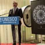 Arūnas Gelūnas, Ambassador, Permanent Delegate of the Republic of Lithuania to UNESCO opens the exhibition.
