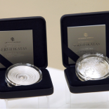 """The last 50 LTL commemorative silver coin """"Form"""". (Photographer Martynas Ambrazas)"""